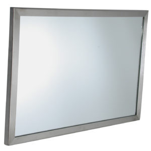 Stainless Steel Angle Framed Mirror