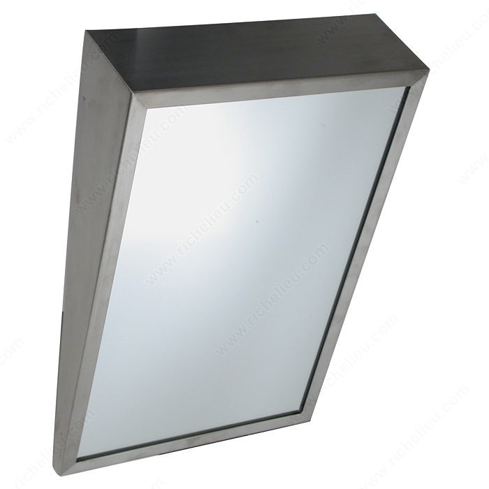 Fixed Tilt Stainless Steel Angle Framed Mirror - Hi-Tech Glazing ...