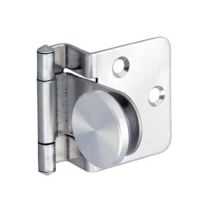 Surface Mounted Hinge for Half-Overlay Glass Doors for Furniture/Cabinet
