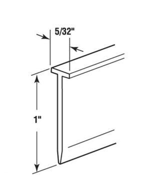 T Slot Shower Door Bottom Seal Hi Tech Glazing Supplies
