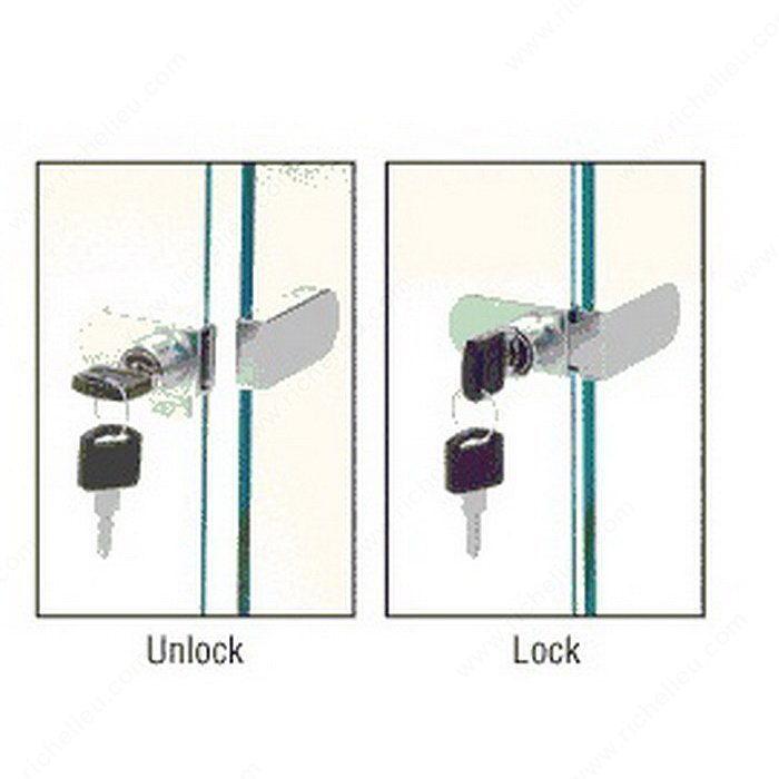 No-Drill Style 90 Degree Glass Door Lock - Hi-Tech Glazing