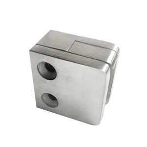 Square Glass Clamp - Flat Post Mount - Model 506