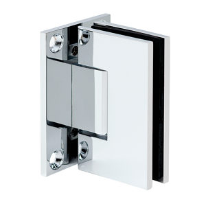 90° Glass-to-Wall Hinge with Full Back Plate - Square