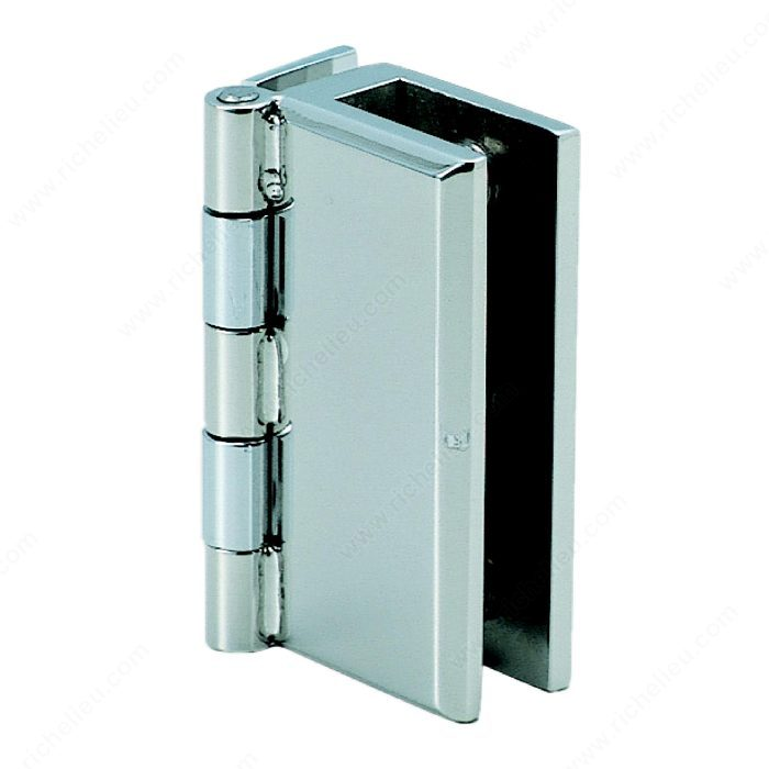 Stainless Steel Hinge For Glass Or Acrylic Door Recessed Within