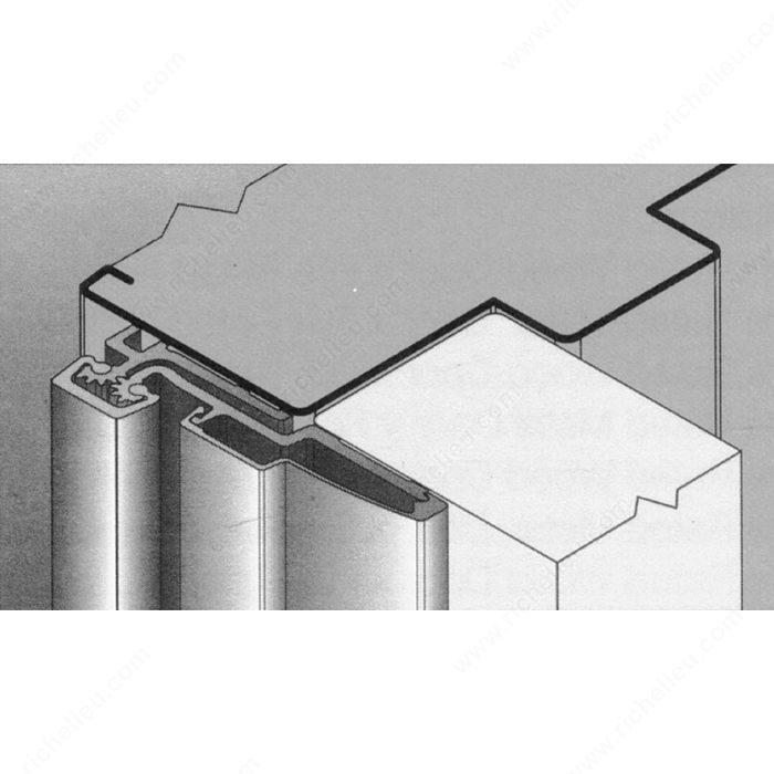 Continuous Geared Full Surface Aluminum Hinge Hi Tech