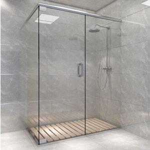 Deluxe D Shape Profile Shower Header Kit Hi Tech Glazing