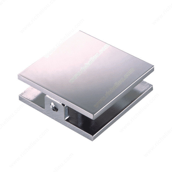 ° glass to wall clamp with short plate square hi