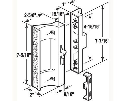 Hook Style Patio Door Handle Set Hi Tech Glazing Supplies