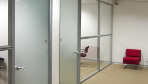 Aluminum Components for Interior Glass Partition