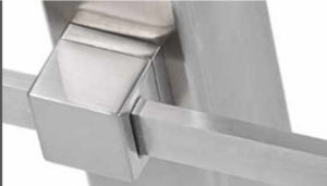 Rectangular Crossbar Railing Components