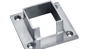 Wall Base for Square Tubular Handrail